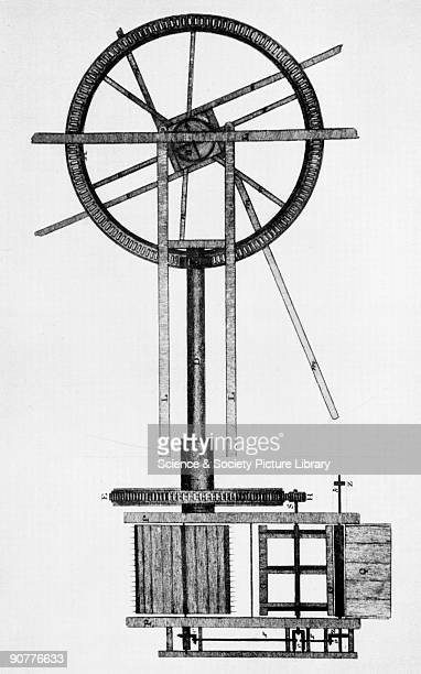 Meikle's threshing machine c 1788 Drawing of threshing machine invented by Scottish millwright and inventor Andrew Meikle Meikle's first attempt at...