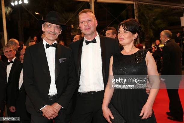 Meinhard Neumann Reinhardt Wetrek and Veneta Fragnova attend the 'Western' screening during the 70th annual Cannes Film Festival at Palais des...