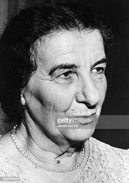 Meir Golda *03051898Politikerin Israel19561966 Außenministerin19691974 Premierministerin Portrait undatiert