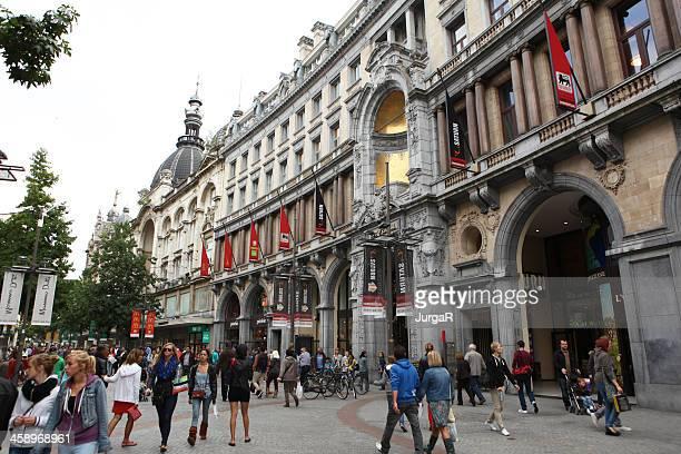 meir shopping street, antwerp - antwerpen provincie stockfoto's en -beelden