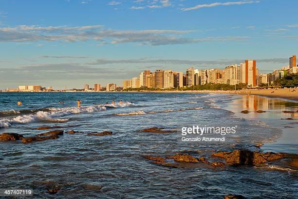 meireles beach in fortaleza city. - セアラ州 ストックフォトと画像
