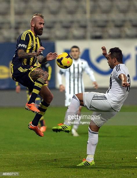 Meireles of Fenerbahce during Fenerbahce Neftchi Baku match in Antalya on January 18 2014