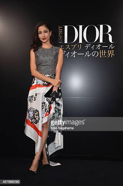 Meisa Kuroki arrives at the 'Esprit Dior' Opening Reception on October 28 2014 in Tokyo Japan