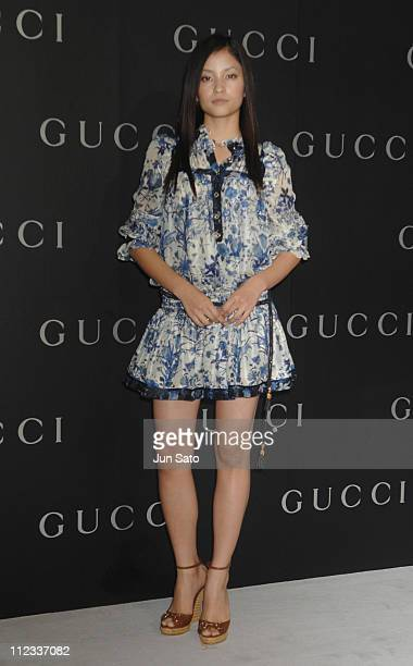 Meisa Kuroki during GUCCI Ginza Flagship Store Opening Reception Party Arrivals at Tokyo Port Terminal in Tokyo Japan