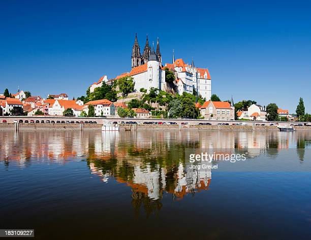 meissen and elbe river - saxony stock pictures, royalty-free photos & images