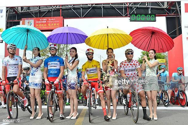 Meiyin Wang WisdomHengxiang Cycling team Marco Benfatto AndroniGiocattoli team Mattia De Marchi Mattia De Marchi Androni Giocattoli and MaralErdene...