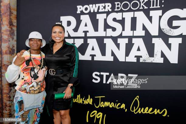 Mekai Curtis and Courtney A. Kemp attend 'Power Book III: Raising Kanan' global premiere event and screening at Hammerstein Ballroom on July 15, 2021...
