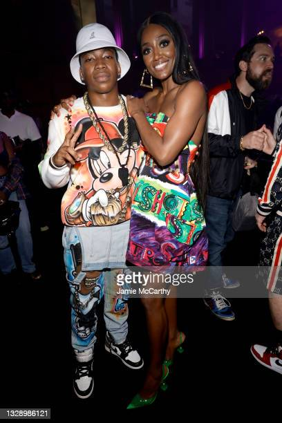Mekai Curtis and Patina Miller attend 'Power Book III: Raising Kanan' global premiere event and screening at Hammerstein Ballroom on July 15, 2021 in...