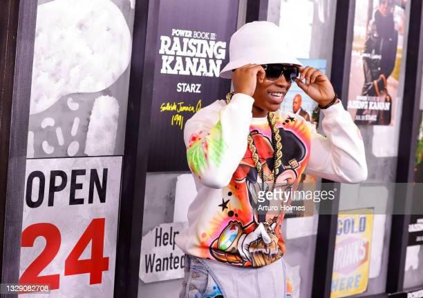 "Mekai Curtis attends the ""Power Book lll: Raising Kanan"" New York Premiere at Hammerstein Ballroom on July 15, 2021 in New York City."
