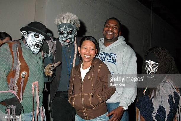 Mekhi Phifer and guest during Linda Cardellini Mekhi Phifer and Shane West of ER Visit Knott's Scary Farm's 34th Annual Halloween Haunt at Knott's...