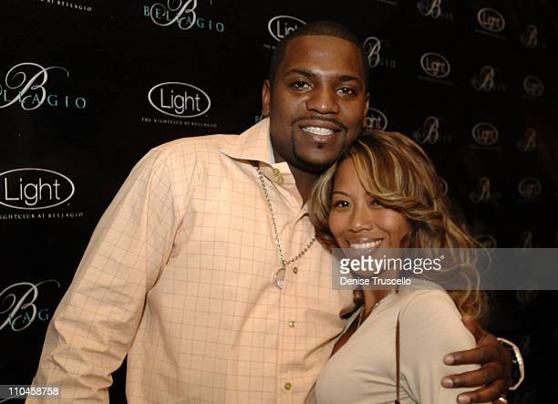 Mekhi Phifer and Oni Souratha during LIGHT Nightclub Four Year Anniversary VIP Red Carpet Reception at Caramel Lounge at The Bellagio Hotel and...