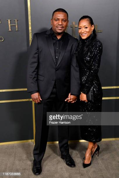 Mekhi Phifer and Reshelet Barnes attend the Premiere of Apple TV's Truth Be Told at AMPAS Samuel Goldwyn Theater on November 11 2019 in Beverly Hills...