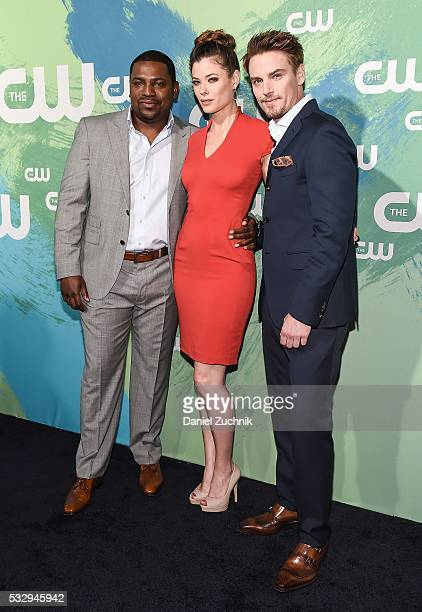 Mekhi Phifer Peyton List and Riley Smith of the series 'Frequency' attend The CW Network's 2016 New York Upfront at The London Hotel on May 19 2016...