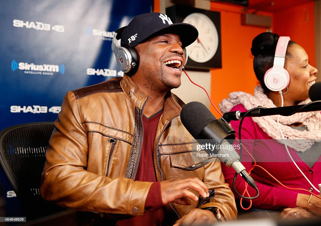 Mekhi Phifer vists Sway in the Morning' with Sway Calloway on Eminem's Shade 45 at SiriusXM Studios on February 27, 2015 in New York City.