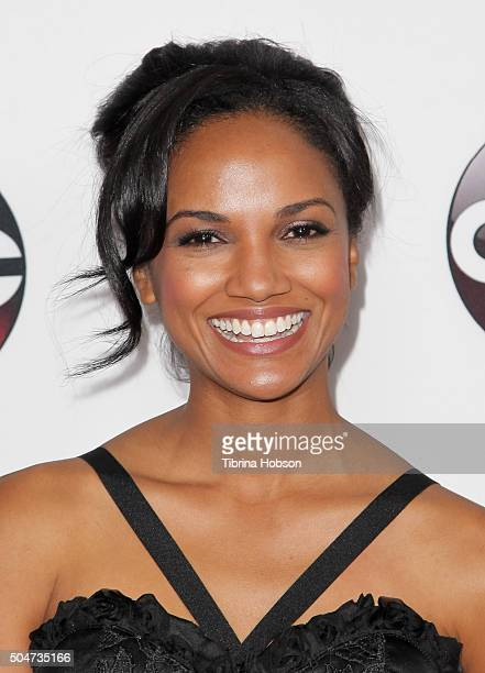 Mekia Cox attends the Disney/ABC 2016 Winter TCA Tour at Langham Hotel on January 9, 2016 in Pasadena, California.