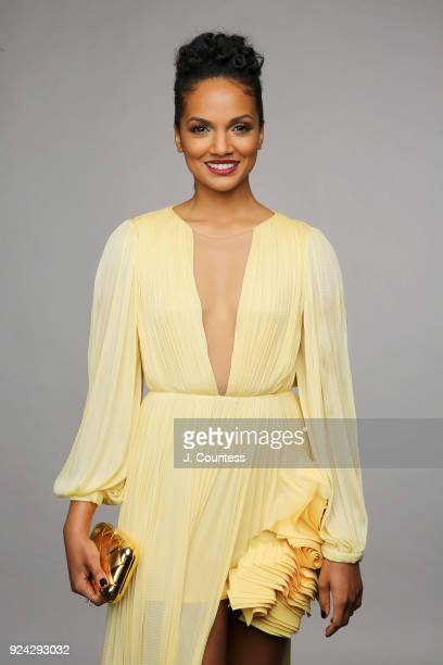 Mekia Cox poses for a portrait during the 2018 American Black Film Festival Honors Awards at The Beverly Hilton Hotel on February 25, 2018 in Beverly...