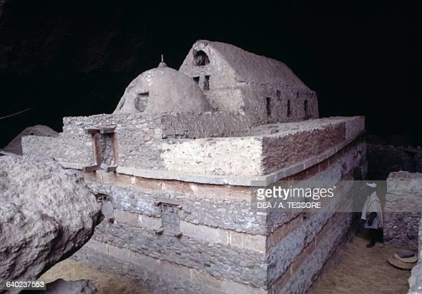 Mekina Medane Alem cave church near Lalibela Ethiopia 6th century