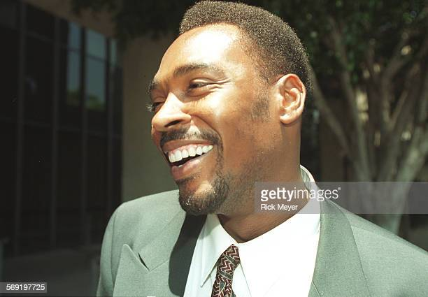 King. 4.0711.RM/a Rodney King smiles after he was found not guilty of spousal battery . He was convicted of misdemeanor hit and run. Photographed...