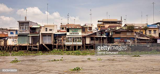 mekong houses - bernd schunack stock pictures, royalty-free photos & images