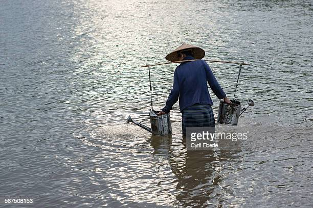 Mekong river farmer