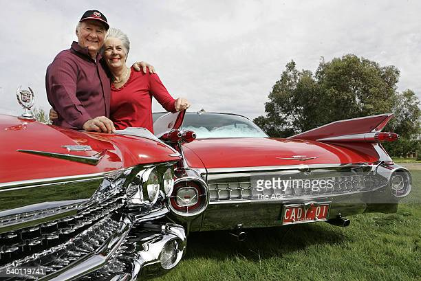Mel and Shirl McMillan and their 1959 Cadillacs on 22nd September 2006 THE AGE DRIVE Picture by GARY MEDLICOTT