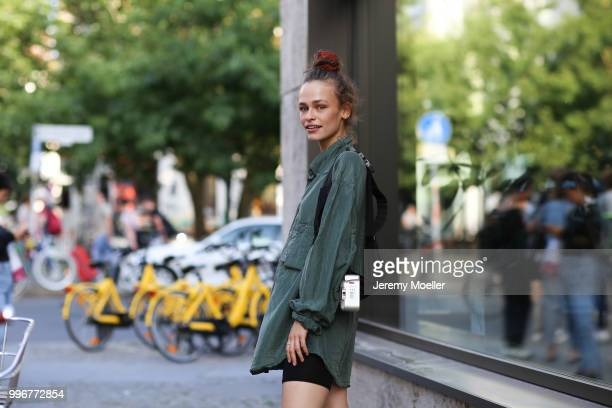 Mel attends the Magazine Lauch Party on July 6 2018 in Berlin Germany