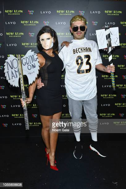 Mel B and Gary Madatyan attend Heidi Klum's 19th Annual Halloween Party presented by Party City and SVEDKA Vodka at LAVO New York on October 31 2018...