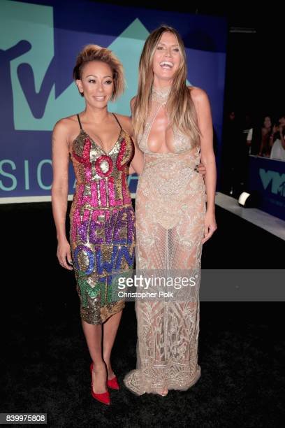 Mel B and Heidi Klum attend the 2017 MTV Video Music Awards at The Forum on August 27 2017 in Inglewood California