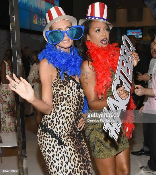 Mel B and Heidi Klum attend the 'America's Got Talent' Barbecue And Viewing Party at Rockefeller Plaza on August 26 2014 in New York City