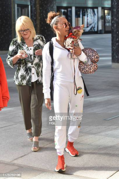 Mel B and her Mum Andrea Brown seen at the ITV Studios on September 17 2019 in London England