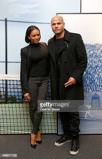 Mel B and husband Stephen Belafonte attend the Lacoste VIP Lounge on day six of the ATP World Finals 2014 at 02 Arena on November 14 2014 in London...