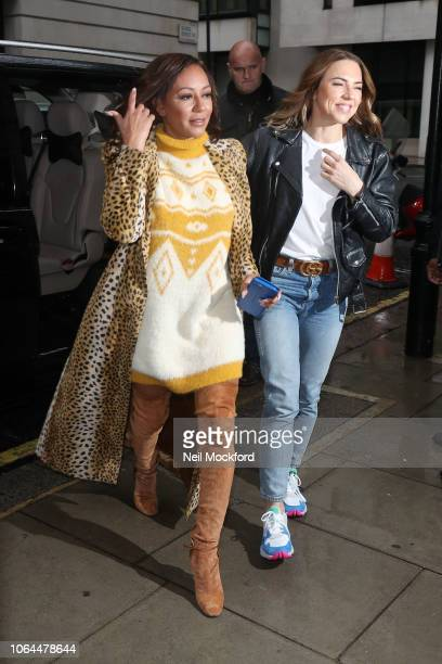 Mel B and Mel C from the Spice Girls seen at BBC Radio 2 on November 07 2018 in London England