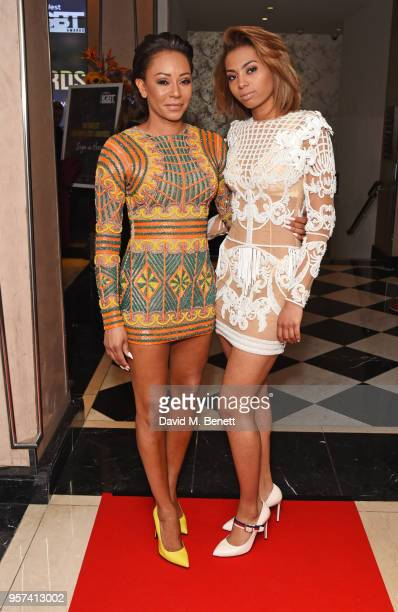 Mel B and Phoenix Chi attend the British LGBT Awards 2018 at the London Marriott Hotel Grosvenor Square on May 11 2018 in London England