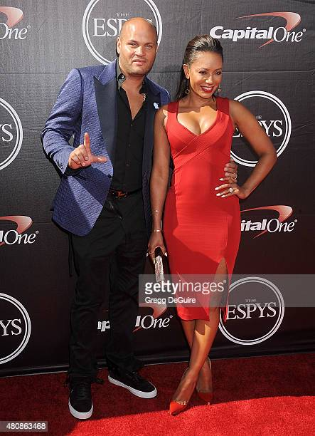 Mel B and Stephen Belafonte arrive at The 2015 ESPYS at Microsoft Theater on July 15 2015 in Los Angeles California