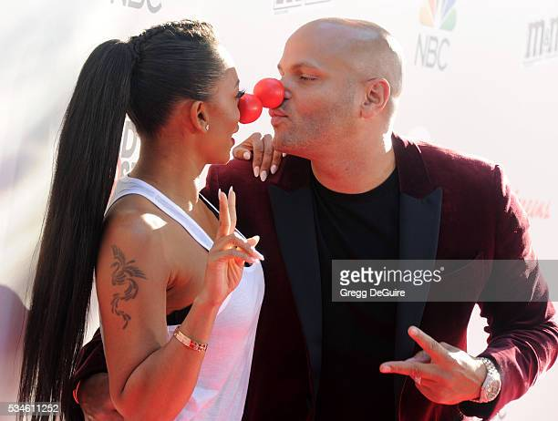 Mel B and Stephen Belafonte arrive at The Red Nose Day Special at the Alfred Hitchcock Theater at Universal Studios on May 26 2016 in Universal City...