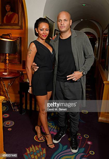 Mel B and Stephen Belafonte attend the launch of Annabel's DocuFilm 'A String of Naked Lightbulbs' at Annabel's on October 28 2014 in London England