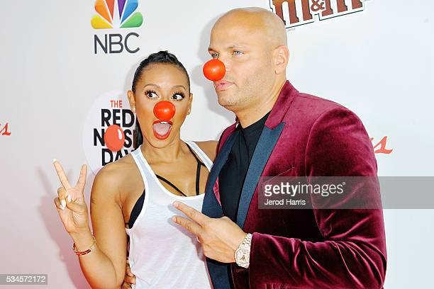 Mel B and Stephen Belafonte attend the Red Nose Day Special on NBC at Alfred Hitchcock Theater at Universal Studios on May 26 2016 in Universal City...
