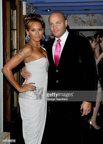 Mel B and Steven Belafonte attend the Farber Center for Radiation Oncology's Rocks Against Cancer fundraiser>> at The Angel Orensanz Foundation on...