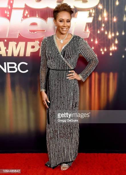 Mel B arrives at America's Got Talent The Champions Finale at Pasadena Civic Auditorium on October 17 2018 in Pasadena California