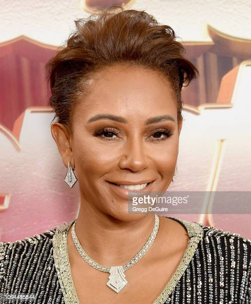 "Mel B arrives at ""America's Got Talent: The Champions"" Finale at Pasadena Civic Auditorium on October 17, 2018 in Pasadena, California."