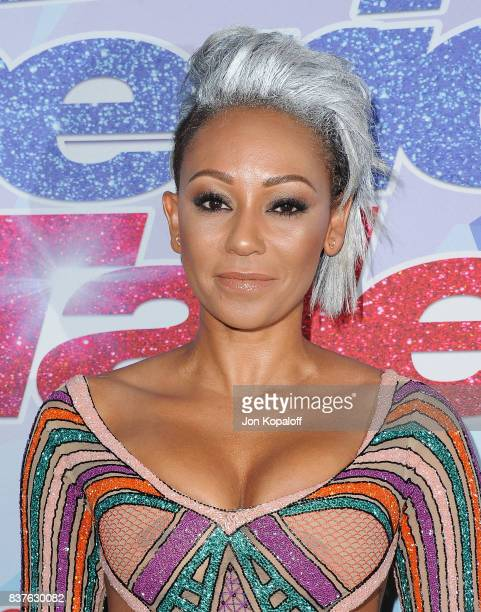 Mel B arrives at NBC's 'America's Got Talent' Season 12 Live Show at Dolby Theatre on August 22 2017 in Hollywood California