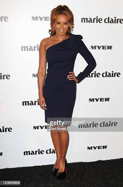Mel B arrives at the 2012 Prix De Marie Claire Beauty Awards at the Museum of Contemporary Art on April 11 2012 in Sydney Australia