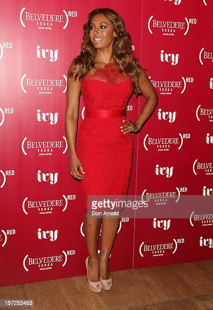 Mel B arrives at the Belvedere Red Launch at the Ivy pool on December 1 2012 in Sydney Australia
