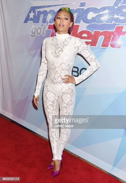 Mel B arrives at the NBC's 'America's Got Talent' Season 12 Finale Week at Dolby Theatre on September 19 2017 in Hollywood California