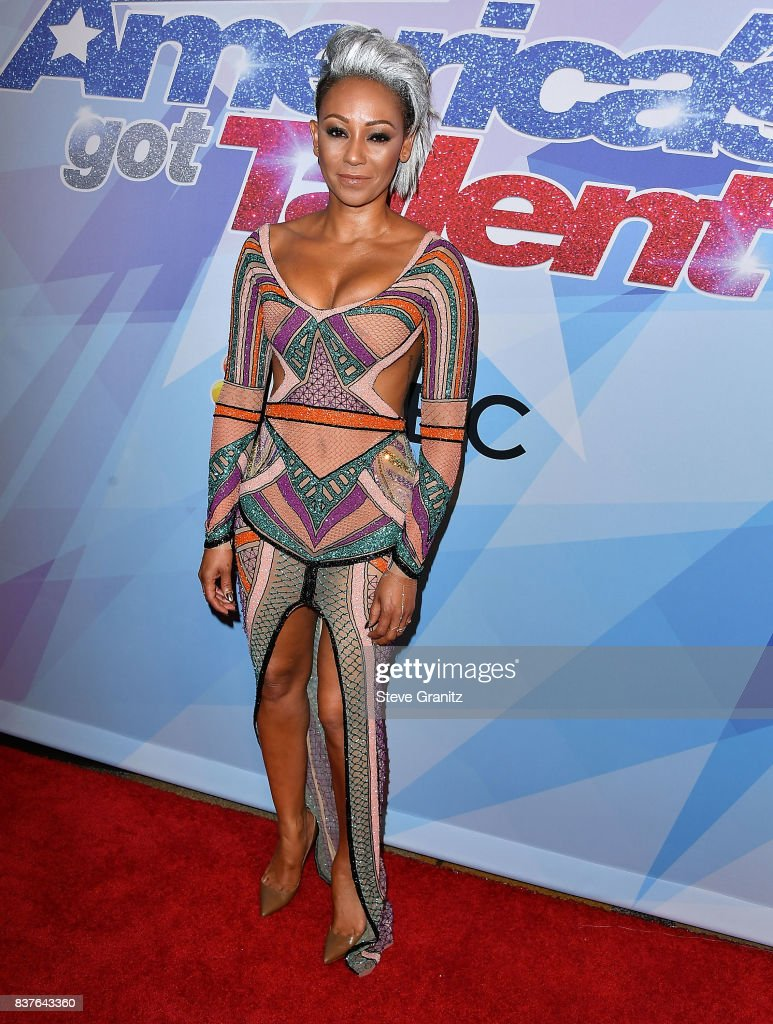 Mel B arrives at the NBC's 'America's Got Talent' Season 12 Live Show at Dolby Theatre on August 22, 2017 in Hollywood, California.