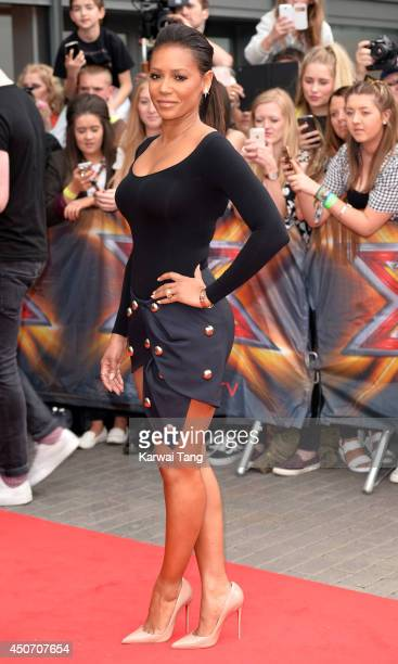 Mel B arrives for the Manchester auditions of The X Factor at Lancashire County Cricket Club on June 16 2014 in Manchester England