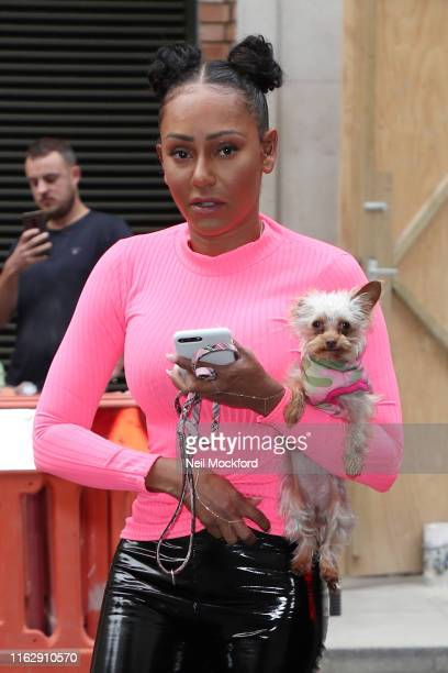 Mel B arriving at BBC Radio 2 on July 19, 2019 in London, England.