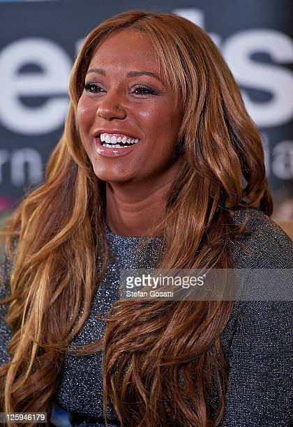Mel B attends a press conference ahead of her front row appearance at Perth Fashion Festival 2011 at Burswood Entertainment Complex on September 22,...