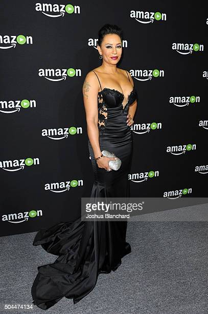 Mel B attends Amazon Studios Golden Globe Awards Party at The Beverly Hilton Hotel on January 10 2016 in Beverly Hills California