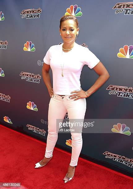 Mel B attends 'America's Got Talent' Red Carpet Event held at the Dolby Theater on April 22 2014 in Los Angeles California